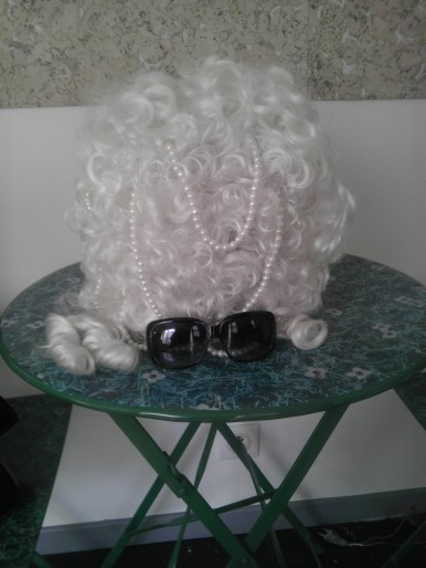 Wig On Table, by Erin