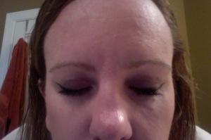 finished eye make up